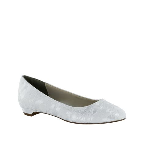 dyeable flat wedding shoes yvette flat lace shoe in white ivory dyeable size 5 12
