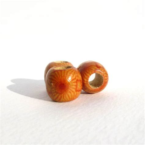 wooden dread patterned wooden dreadlock bead dread shop
