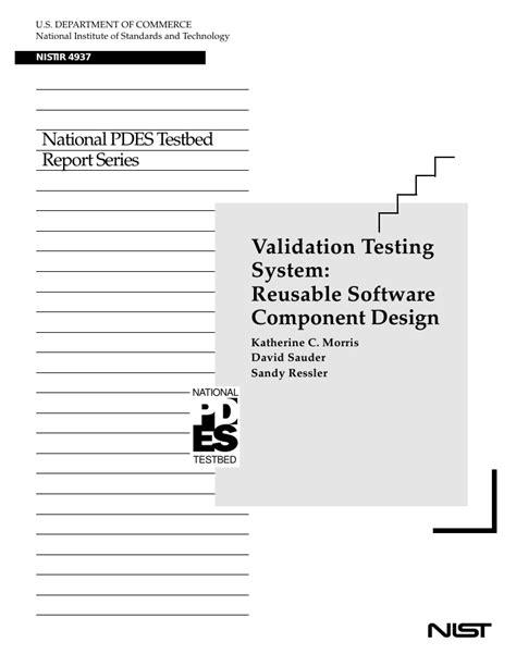 software design pattern validation validation testing system reusable software component design