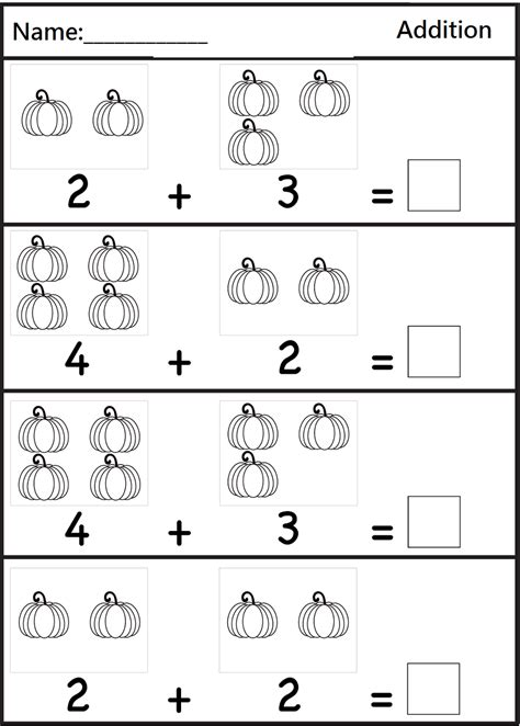 printable math worksheets addition addition worksheets for preschoolers pre k math