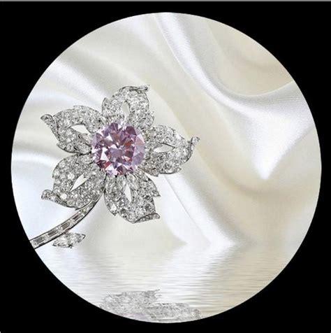 jewellery flower diamond background wall 3d wallpaper 3d luxury diamond jewelry flowers on white silk wallpaper