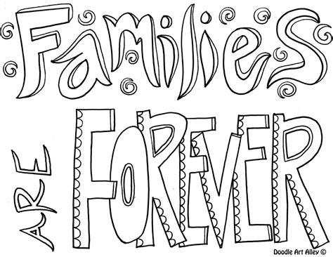 coloring page family reunion family quote coloring pages doodle art alley