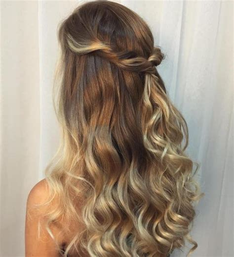 curly hairstyles for long hair half up long curly half up down hairstyles hair