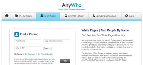 Phone Lookup Lookup Anywho Html Whitepages Lookup