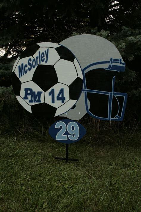 Personalized Sports Yard Sigs Signladybiz On Etsy Com Personalized Sports Yard Signs Football Yard Sign Template