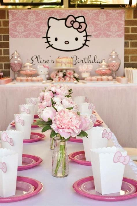 couple kitty themes ideas pastel pink hello kitty themed birthday party with lots of