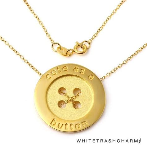 Favourite White Trash Charms As A Button by As A Button Necklace W H I T E T R A S H C H A R M S