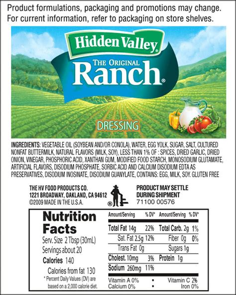 how many calories in light ranch dressing the original ranch 174 valley 174