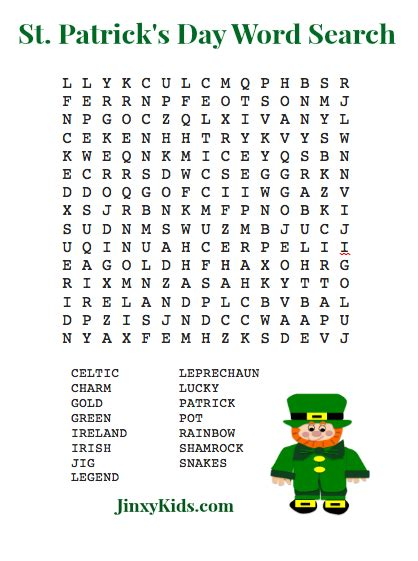 s day puzzle 5 best images of st s day puzzles printable st