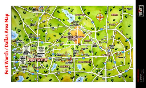 map fort worth texas area dallas map images