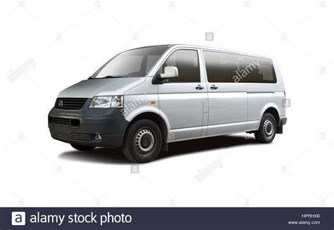 volkswagen minibus side view mini side view isolated on white stock photo