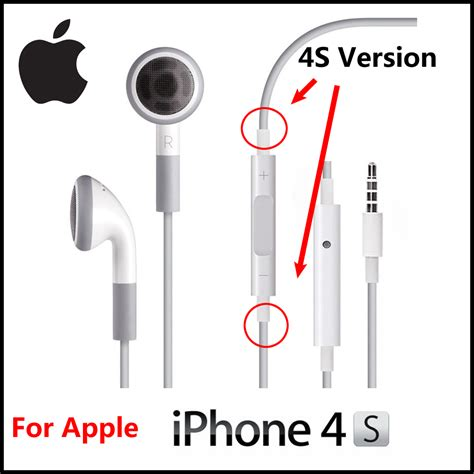 Headset Iphone 4s Original headphones earphones with mic remote for iphone 4s clickbd