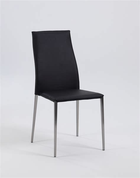Padded Stackable Chairs by Stackable Upholstered Side Chairs With Steel Legs And