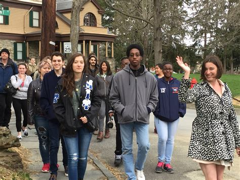 New Paltz Finder Creative Writing Students Find Inspiration On Historic Huguenot Suny New