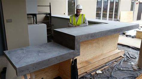concrete bar tops concrete planters concrete art made by austin craftsmen