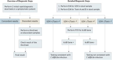 diagnosis and treatment of c difficile in adults