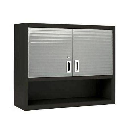 metal locking wall cabinet tool shop garage storage