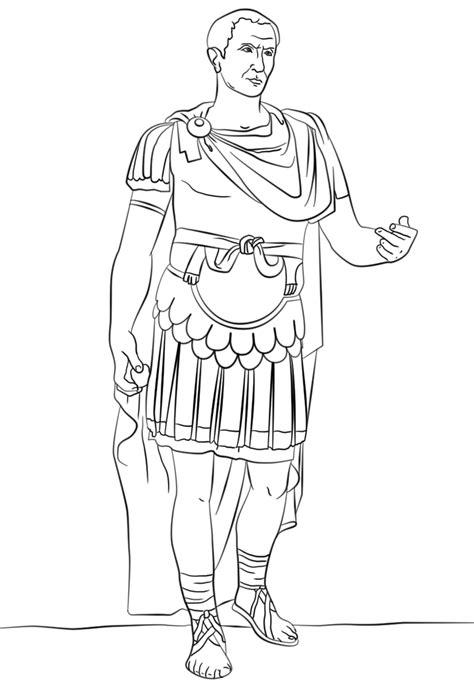 galius julius caesar ancient rome coloring page history