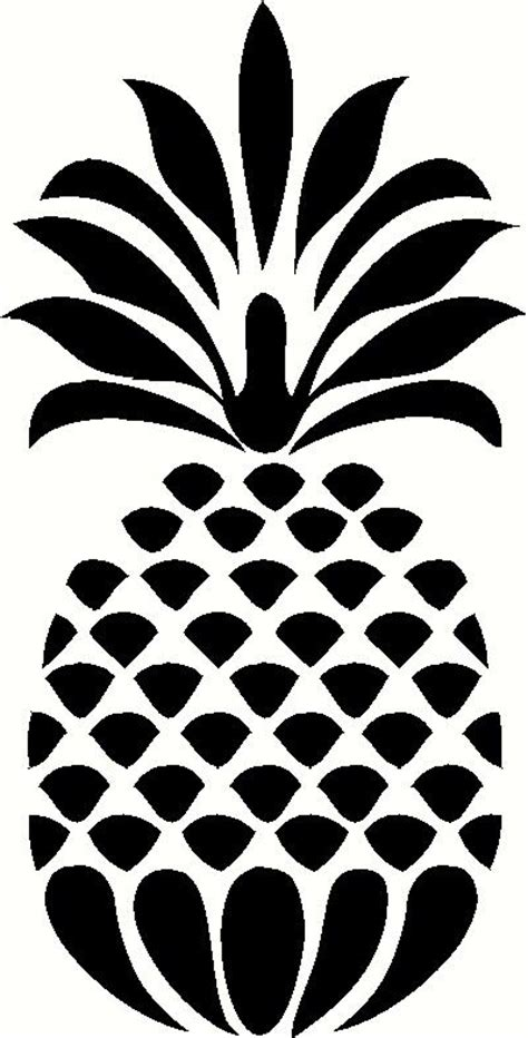 black and white pineapple stencil pictures to pin on