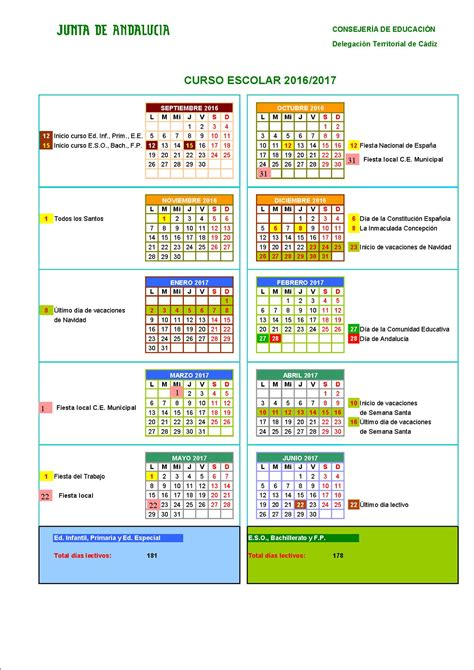 orientaci 243 n ies ram 243 n y cajal educamadrid almeriacalendario escolar junta andalucia almeria 2016