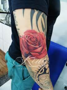 rose tattoos in color tatuagem de rosa 3d realistis color