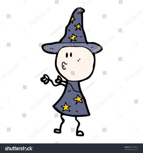 doodle wizard doodle person wizard costume stock vector 79339624