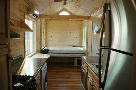 Tiny House Without Loft by Tiny House With No Need For Loft Or Ladder Bed Is On A