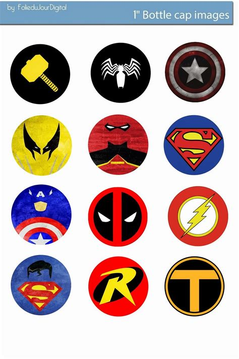 printable digital images free bottle cap images marvel comics free digital bottle