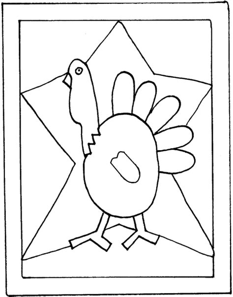 best photos of printable turkey pattern teacher
