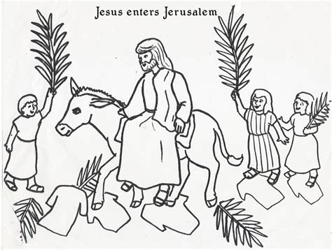palm sunday pages coloring pages