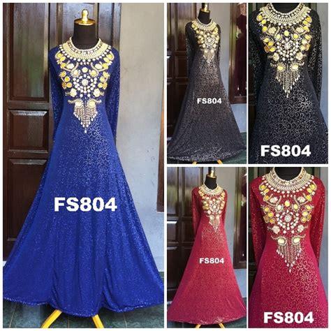 Maxi Dress Arabic Abaya Warna Balotelli Songket Busui Mayung fs804abc fika shop