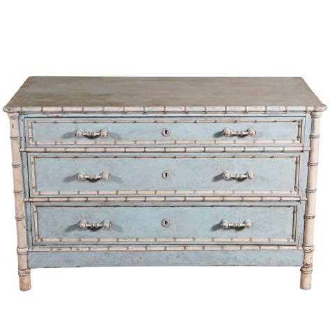 faux bamboo dresser painted faux bamboo painted chest of drawers for sale at 1stdibs