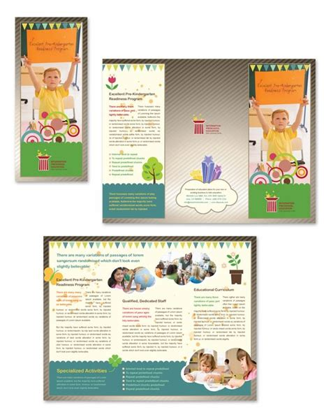 school brochure templates templates preschool and tri fold brochure on