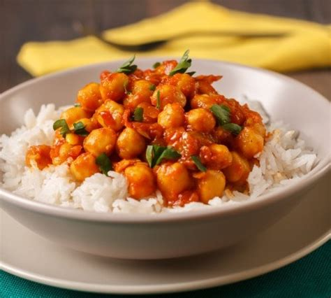 printable easy vegetarian recipes chickpea curry with cauliflower rice get healthy u