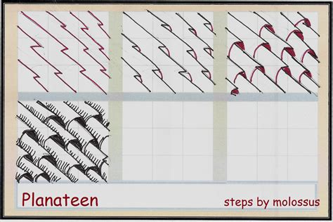 easy zentangle pattern ideas step by step my tangle pattern planateen