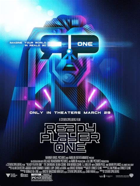 design is one film steven spielberg s ready player one gets two new posters