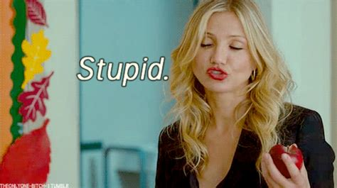 Cameron Diaz Keeps On Saying Dumb Stuff by Justin Timberlake Animated Gif
