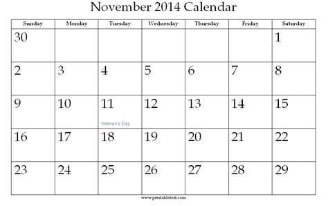printable editable calendar november 2014 image gallery november 2014 calendar