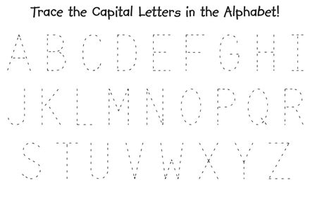 printable letters of the alphabet for tracing trace alphabet letters for children activity shelter