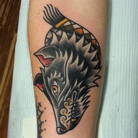 tattoo old school lobo neo trad 3d hd wolf tattoo