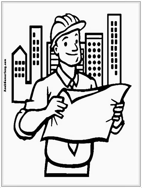 Coloring Mewarnai Profesi gambar mewarnai profesi arsitek mewarnai