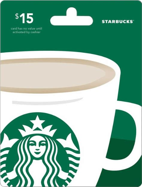 Starbucks Amount On Gift Card - starbucks 15 gift card green starbucks 15 best buy