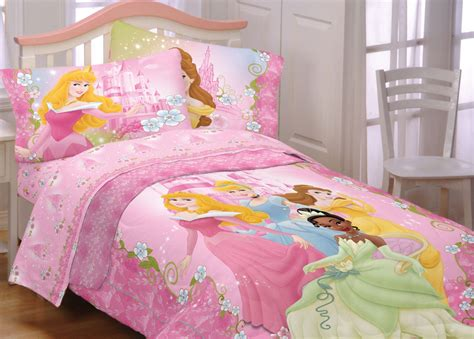 princess bed set 4pc disney princess dainty twin bedding set cinderella tiana comforter sheets ebay