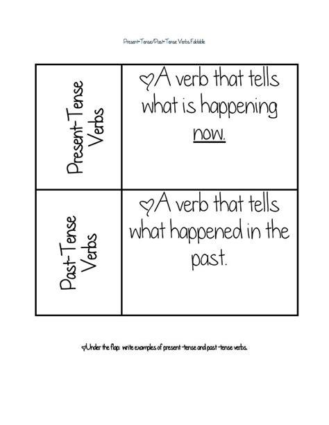 present tense-past tense verbs foldable.pdf | Fun School