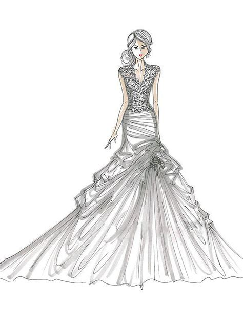 coloring pages of fashion dresses of wedding dresses coloring pages for kids and for