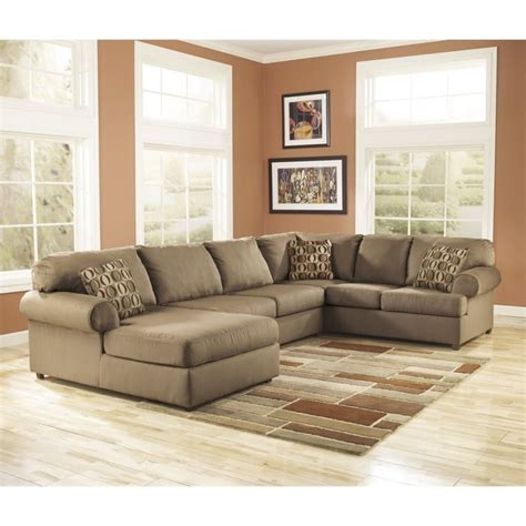 ashley 3 piece sectional ashley furniture cowan 3 piece sectional sofa in mocha