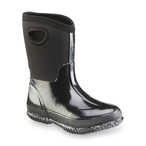 athletech boy s neo black winter boot shoes baby