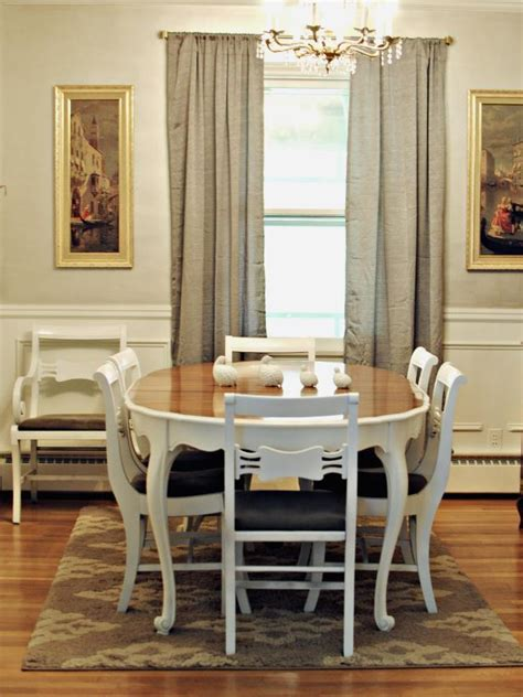 neutral french country style dining room hgtv
