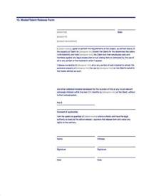 release form template doc 585660 talent release form template sle