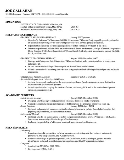 wonderful microbiology resume sles sle resume for microbiologist microbiologist resume sle 12 2 sle resume for